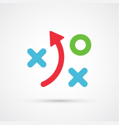 strategy financial plan trendy symbol vector image