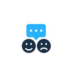 testimonial logo icon design vector image