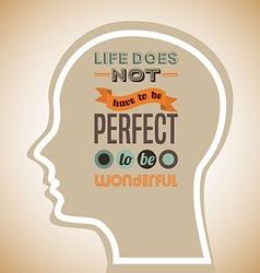 Think positive design vector