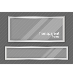 Transparent frame vector image