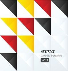 Triangle pattern design yellow black red vector