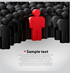 unique person in the crowd vector image