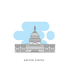 washington dc united states detailed silhouette vector image
