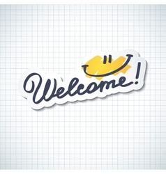 Welcome vector