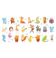 Wildlife for kids baanimals clipart collection vector