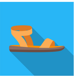 woman sandals icon in flat style isolated on white vector image