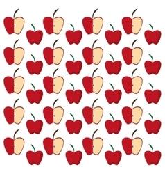 apples half fruit tasty seamless pattern vector image vector image
