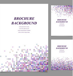 Colorful abstract tile mosaic brochure template vector image vector image