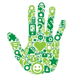 Concept of green human hand vector image