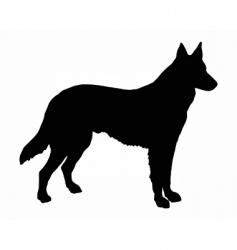German shepherd dog vector