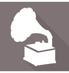 Gramophoneold retro record player icon vector image vector image