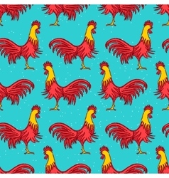 Rooster seamless pattern vector image vector image