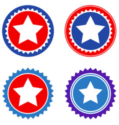 round star seal stamp flat icons vector image