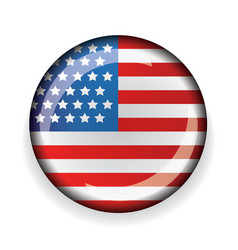 USA flag badge vector image