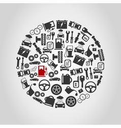 Car circle vector image