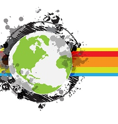 drawing sketch globe banner design vector image vector image