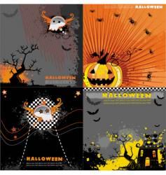 Halloween backgrounds set vector image