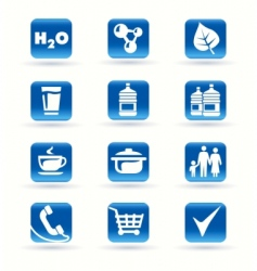 icons kitchen shop food drink vector image vector image