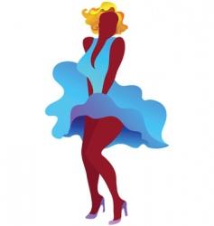 sexy marilyn monroe poster vector image