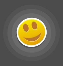 smile emotion vector image