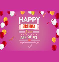 Stylish greetings happy birthday creative card vector