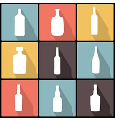 Bottle icons in flat design for web and mobile vector