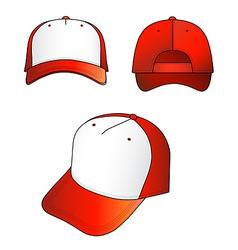Red-white cap vector