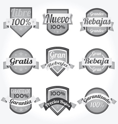 spanish retro sales free labels vector image