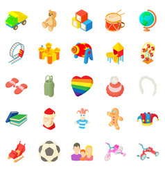 time for games icons set cartoon style vector image