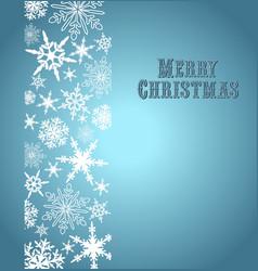 Christmas Snowflake Card Silver Blue vector image vector image