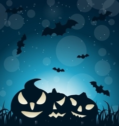 Halloween Spooky Dark Background vector image