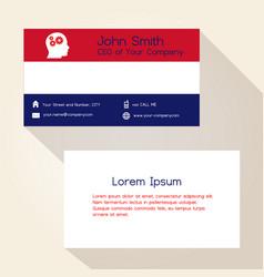 nederland flag color business card design eps10 vector image vector image