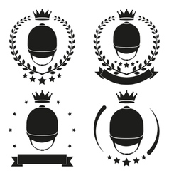 Set of Vintage horseride Club Badge and Label vector image vector image