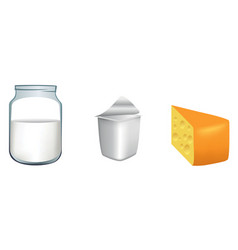 three milk products vector image vector image