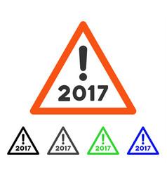 2017 warning flat icon vector