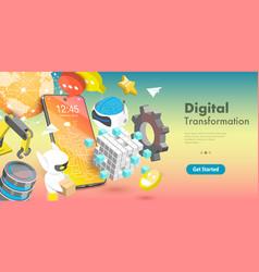 3d conceptual digital vector