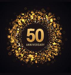 50 years anniversary isolated design vector