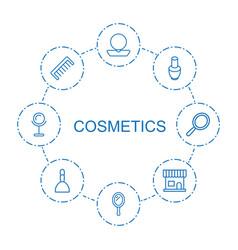 8 cosmetics icons vector