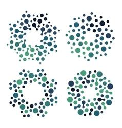 Abstract circle logotype set Green and blue vector