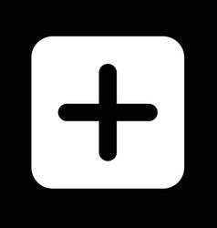 add plus sign icon design vector image