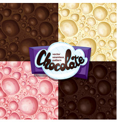 Aerated chocolate set vector