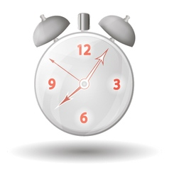 Alarm clock with red arrows vector