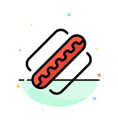 America american hotdog states abstract flat vector