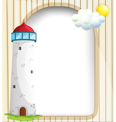 An empty template at the back of a tower vector image