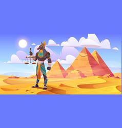 Anubis egyptian god ancient egypt deity jackal vector