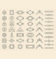 art deco geometrical shapes modern design vector image