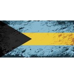 Bahamas flag Grunge background vector