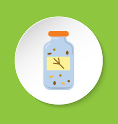 Bird food container icon in flat style vector