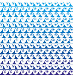 blue waves lines seamless greek pattern vector image