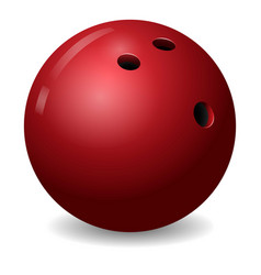 Bowling ball icon realistic style vector